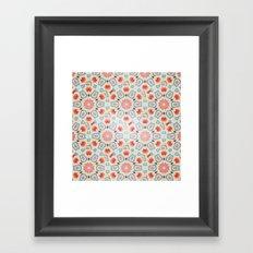 RED ARABESQUE Framed Art Print