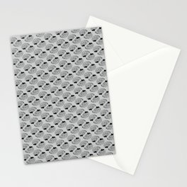 Braaains (black on grey) Stationery Cards
