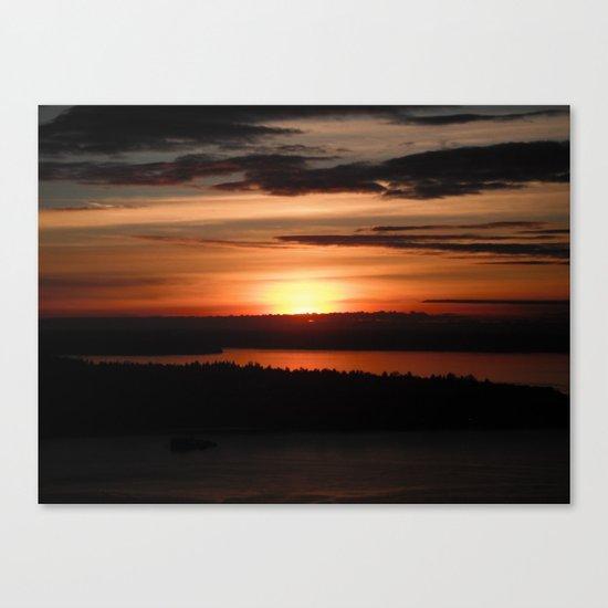 Puget Sound Sunset 2 Canvas Print
