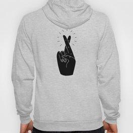Fingers Crossed / Black & White Hoody