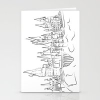 hogwarts Stationery Cards featuring Hogwarts Castle by Jessica Slater Design & Illustration