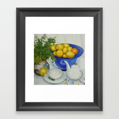 Lemon Tea Framed Art Print