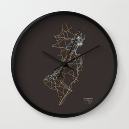 New Jersey Highways Wall Clock