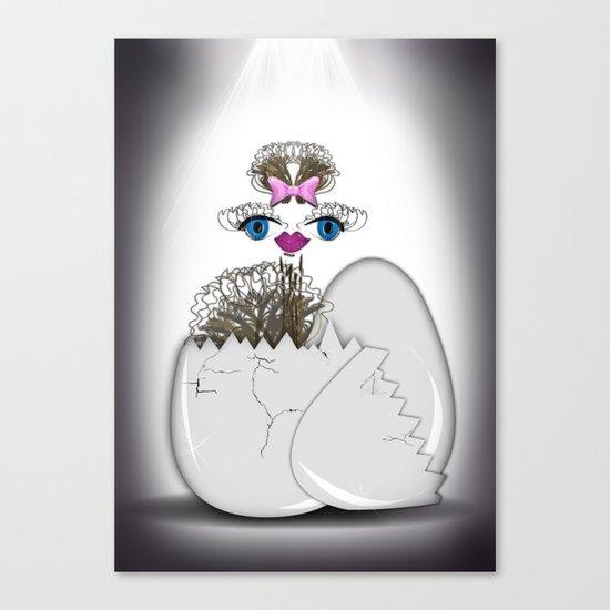 newborn ostrich Canvas Print