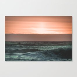 Perfect Ocean Sunset Canvas Print