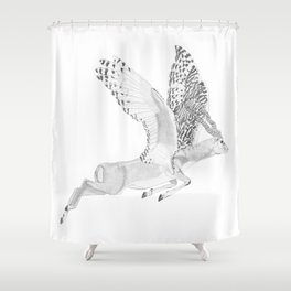 Combinations #7 - Antelope / Owl (FINAL) Shower Curtain