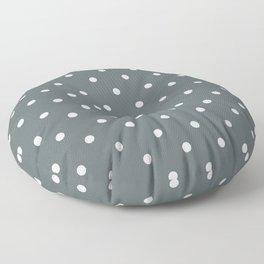 Polka Dots Pattern: Dark Grey Floor Pillow