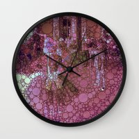 degas Wall Clocks featuring technicolor ballet class by MonicaKay