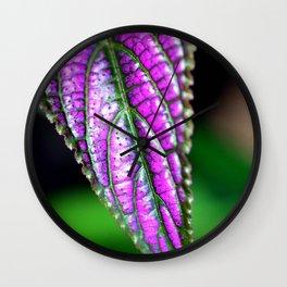 Jurassic Purple Wall Clock