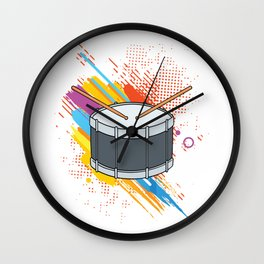 Drumline Drums Drumming Marching Band Drummer Gift Wall Clock