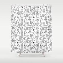 Super Mario PAttern Shower Curtain