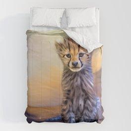 Cute cheetah cub Comforters