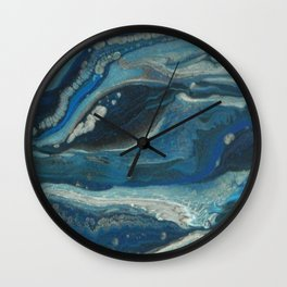 Water Dragon, Abstract Fluid Acrylic Painting Wall Clock