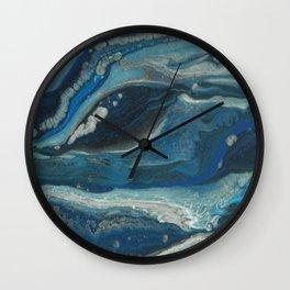 Water Dragon, Abstract Fluid Acrylic Painting Wall Clock