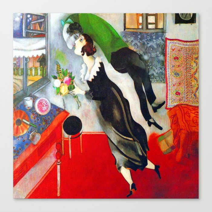 Marc Chagall The Birthday Leinwanddruck