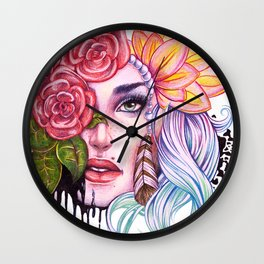 Rose Lady Abstract Wall Clock