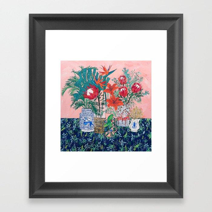 The Domesticated Jungle - Floral Still Life Gerahmter Kunstdruck