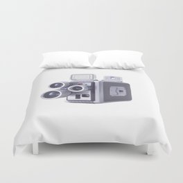 Vintage Camera 16mm Duvet Cover