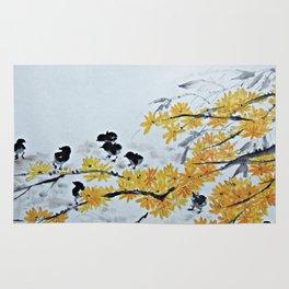Chicks Under The Tree Rug