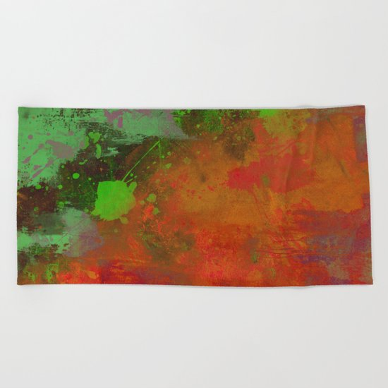 A Difference Of Opinion (Abstract painting) Beach Towel