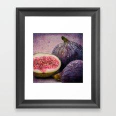 figs -blue 1x1 Framed Art Print