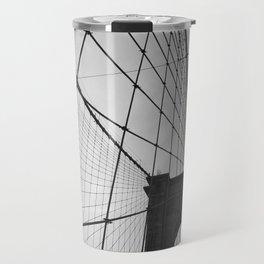 Brooklyn Bridge Black and White Travel Mug