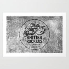 British Rockers 1967 Art Print