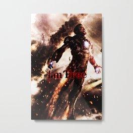 I'm Free. Iron Man Metal Print