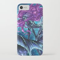 daunt iPhone & iPod Cases featuring Deep Sea Mermaid by Daunt