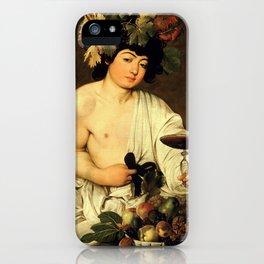 Carvaggio - Bacchus 1595 iPhone Case