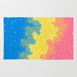 Pan Pride Flag Galaxy Rug