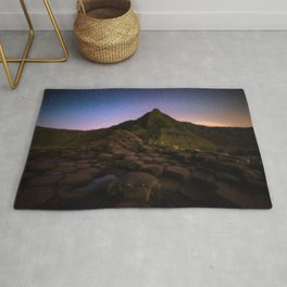 The Giants Causeway with the stars | Print (RR 269) Rug