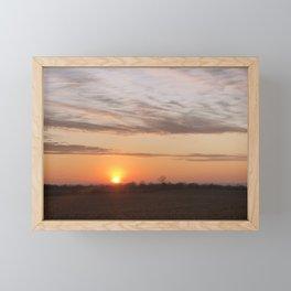 Country Sunset Framed Mini Art Print