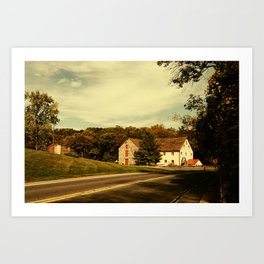 Greenbank Mill Summer Colorized Rural Landscape Photograph Art Print