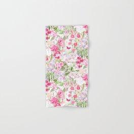 Vintage & Shabby Chic - Pastel Spring Flower Medow Hand & Bath Towel