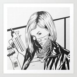 Bad Girl Gigi Art Print