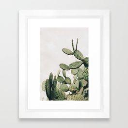 Cactus on blue sky #society6 #decor #buyart Framed Art Print