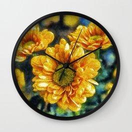 Sunny Flowers Wall Clock