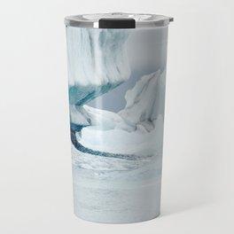 Iceberg blue lagoon Icelandic travel photography Travel Mug