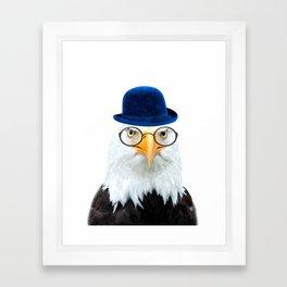 Funny Eagle Portrait Framed Art Print