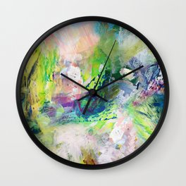 Green Paint Splash Wall Clock