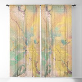 The Bringer Of Angels Sheer Curtain