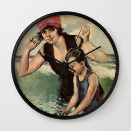 At the Seashore 1919 Wall Clock