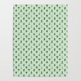 STEAMPUNK, MINT GREEN Poster