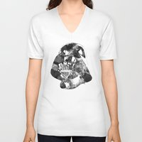 vader V-neck T-shirts featuring Vader by DanielBergerDesign