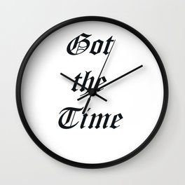 Got the time Wall Clock