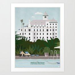 Chateau Marmont hotel Art Print