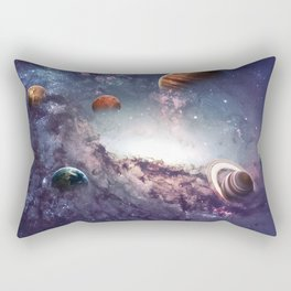 planets of the solar system galaxy Rectangular Pillow