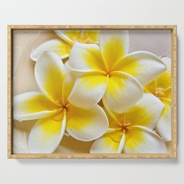 Plumeria Blossoms Serving Tray