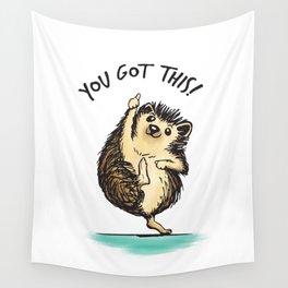 Motivational Hedgehog Wall Tapestry